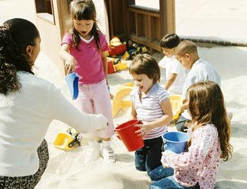 kids in sandbox