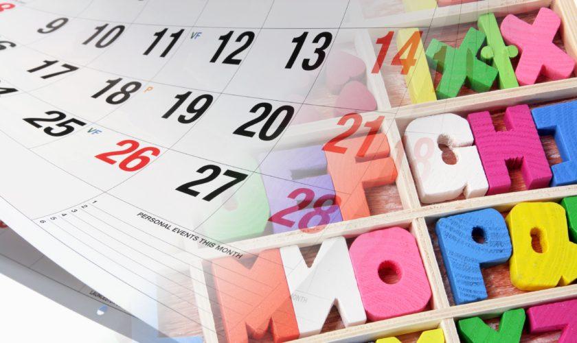 Calendar and Alphabets