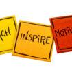 teach, inspire, motivate concept