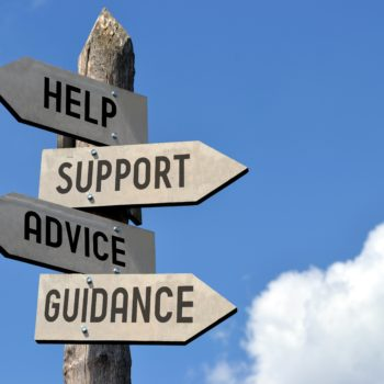 Help, support, advice, guidance signpost.